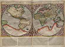Planisph�re dessin� par Mercator