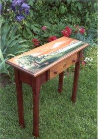Anne marie boisvert for Peinture pour table en bois tours